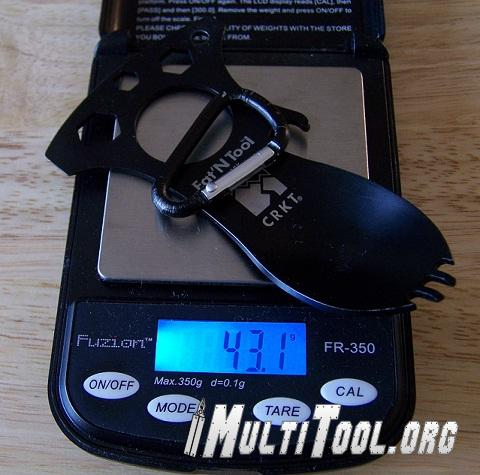 Well under 50g the Eatn Tool is great for weight conscious users